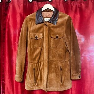 LNR Men's M Suede Leather Brown Jacket